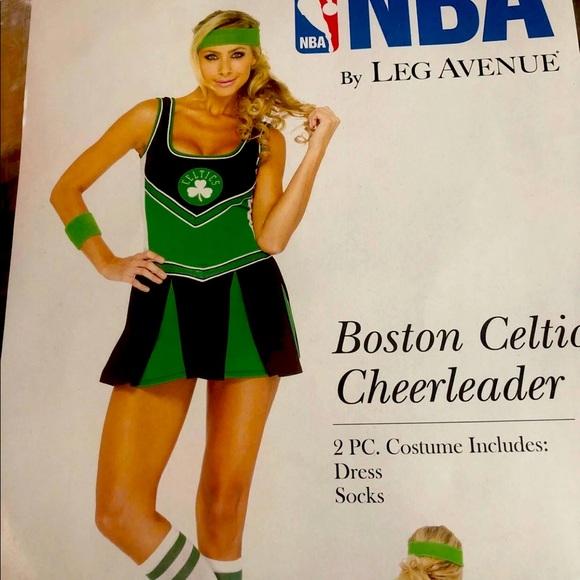 Leg Ave Boston Celtics Cheerleader Costume - SM/MD